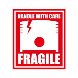 "STICKER ""FRAGILE"" RED 10枚セット"