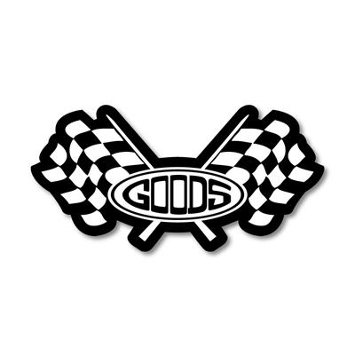 "STICKER ""MGG CHECKER FLAG"" BK/WH"