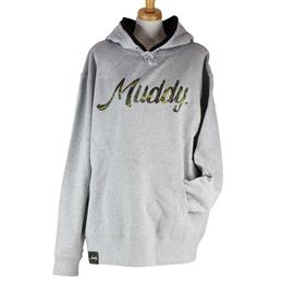 Muddy Camouflage 10.0oz HOODIE /GRAY /L-size