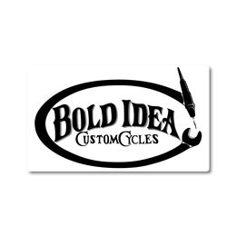 "STICKER ""BOLD IDEA"" WH/BK"